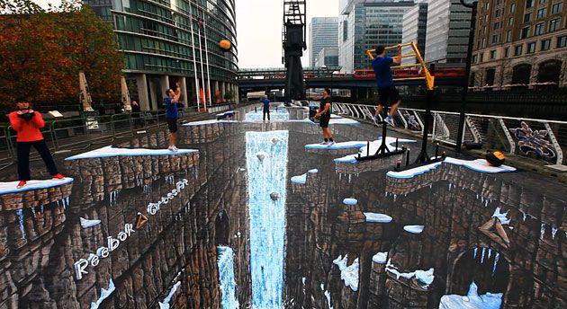 arte em 3d na rua - Pesquisa Google