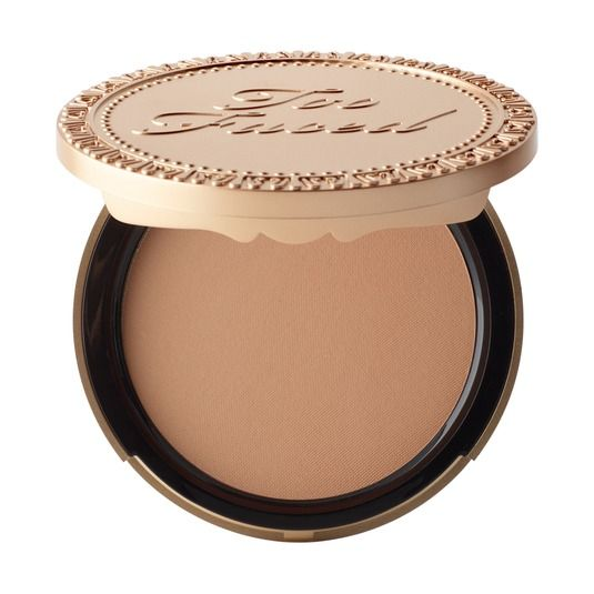 *Owned* Milk Chocolate Soleil Bronzer - Too Faced. This is a great way to add color to my white face, plus there's actually cocoa powder in it. Super kissable.