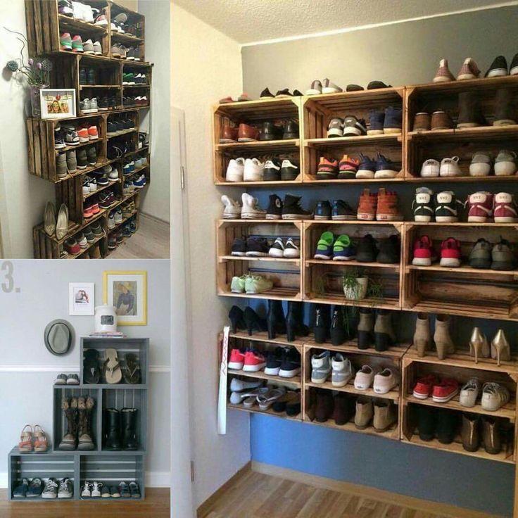 estante para zapatos zapateras de madera reciclada muebles para