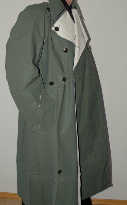Men S Rare Genuine 60 S German Officer Rubber Pvc Rain Jacket Coat