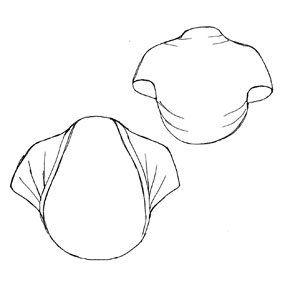 Montant de tissus de 80cm de large D'UN tissu de 45cm POUR UNE taille 32 130cm de tissu non d'70cm de large POUR UNE taille 46