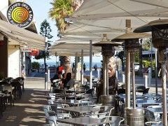 $10 Steak Bondi Beach Hurricanes Grill Bondi Beach Alfresco dining. Can see Bondi Beach in ...