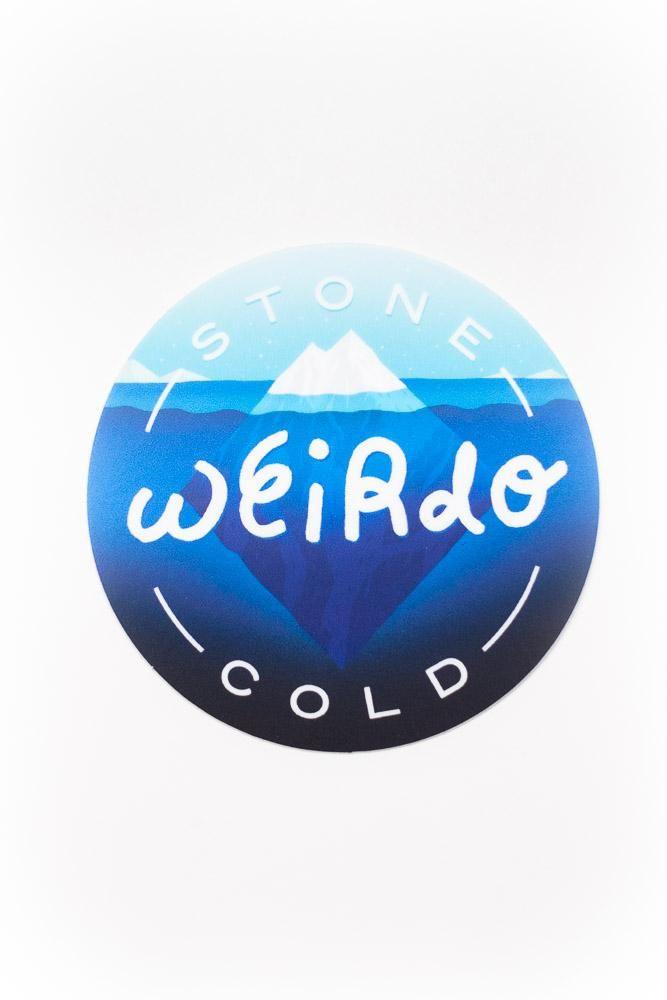 Stone Cold Weirdo Sticker Stone Stickers Weirdo