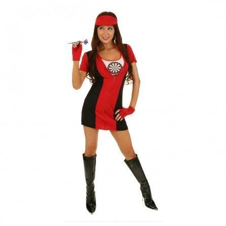 Womens Dart Shooter Sports Costume