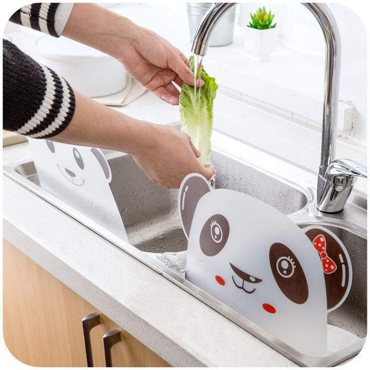 Домашний бассейн кронштейн творческий небольшие кухонные предметы, инструменты артефакт бытовых резервуар для воды анти-всплеск воды-непроницаемая перегородка-Таобао
