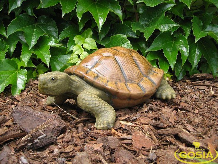 Żółw duży - figurka ceramiczna ogrodowa