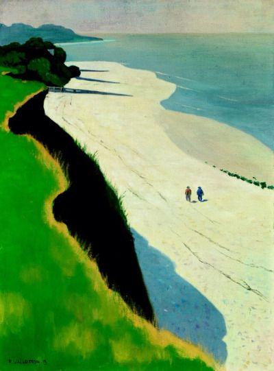 Félix Vallotton  (1865-1925) was een van oorsprong Zwitsers kunstschilder. In 1900 liet hij zich tot Frans staatsburger naturaliseren. Na een tentoonstelling van Japans drukwerk gezien te hebben begon hij aan een eigen collectie van drukwerk te werken. De simpelheid en de directheid van de Japanse kunst hebben zijn werk beïnvloed. Vallotton is degene die de techniek van de houtgravure opnieuw leven ingeblazen heeft.-