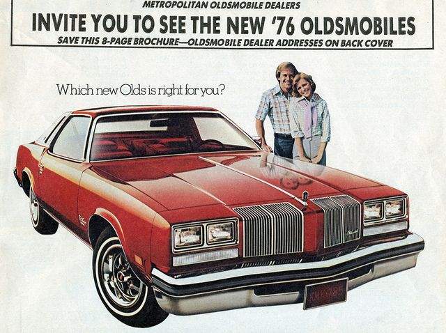 1976 Oldsmobile Cutlass Supreme My first car, but it was a four-door. Loved that car!
