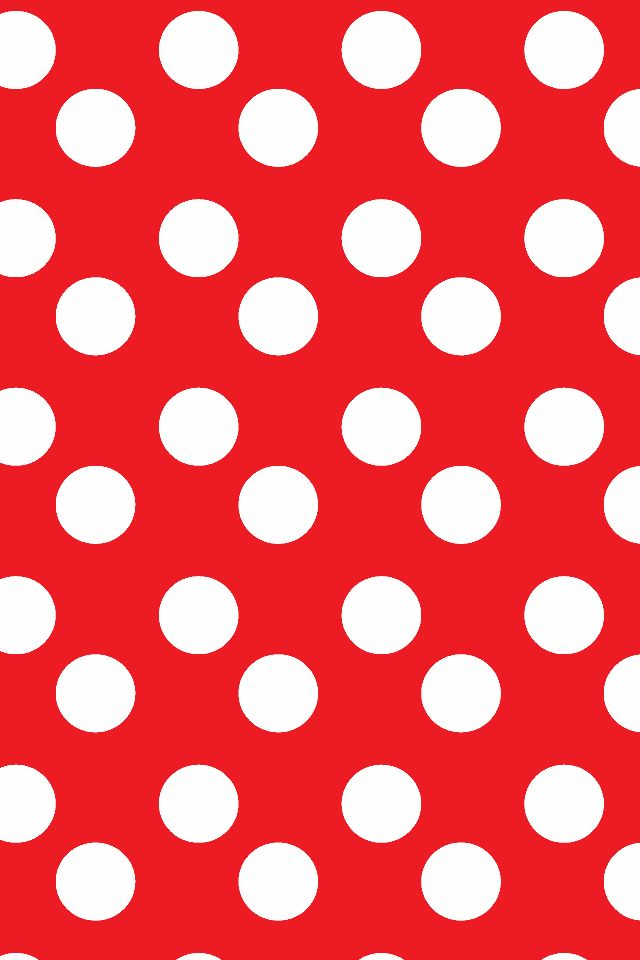 Red, white large polka dots