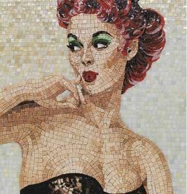 Mosaic pin-up girl
