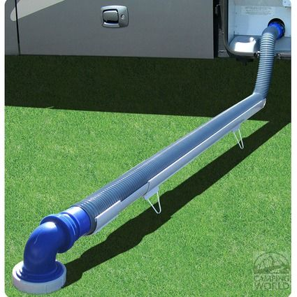 This would be much prettier for under my RV to hold my hose from the back bathroom to the front Y that goes to the drain. Better than the pieces of wood and blocks of concrete set up I have now.