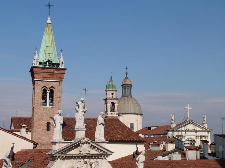 La vista dalla terrazza della Basilica / Images © Musei Civici Vicenza