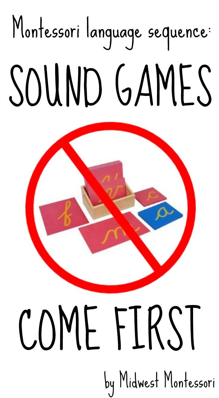 Sound games BEFORE letter symbols