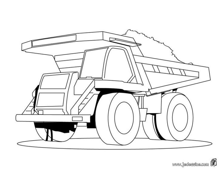 Very Large Mining Trucks Coloring Pages For Kids Printable