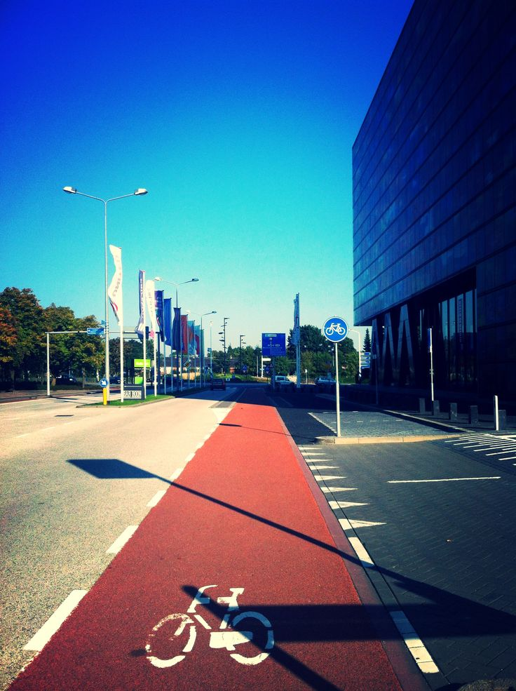 Cycle Road, Hilversum - Media Park. October 2013. The Netherlands.