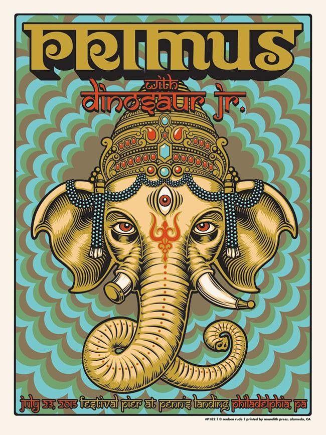 Primus + Dinosaur Jr. @ Festival Pier at Penn's Landing, Philadelphia (PA), 23th July 2015, by Zoltron | #music #posters