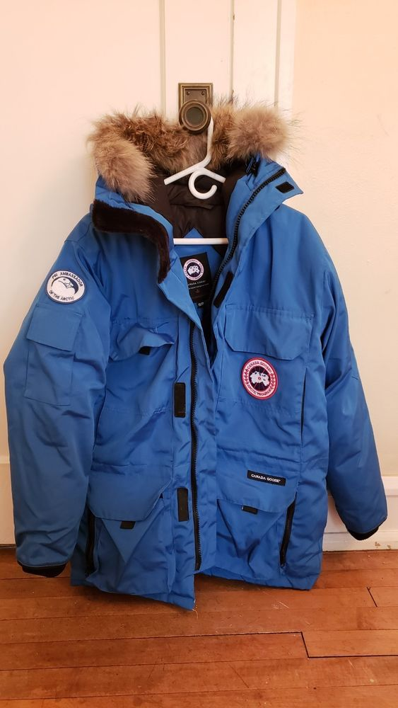 Canada Goose Expedition Parka Men S Xs Cobalt Blue Great