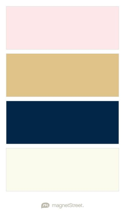 Cream Rose Gold Navy And Ivory Wedding Color Palette