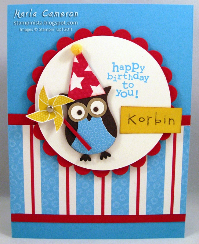 Good Card Making Ideas Owls Part - 1: Kids Owl B-day Card