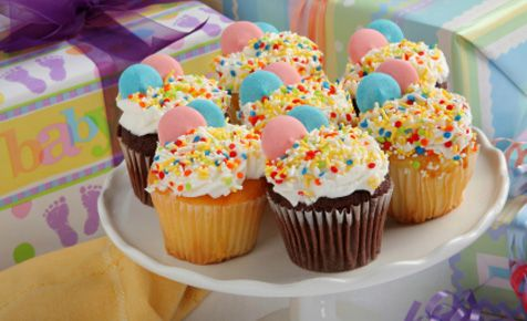 Sweet Cupcakes Baby Shower Food Ideas