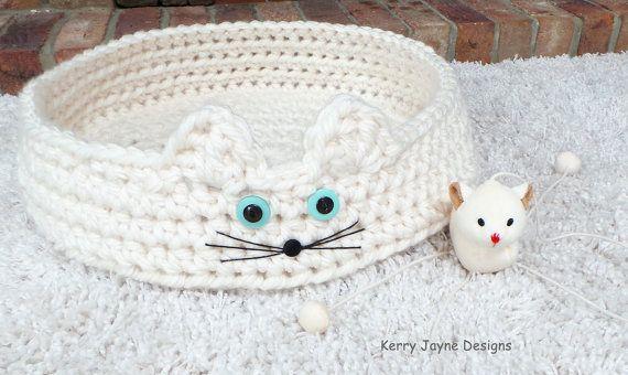 CATS CRADLE häkeln Muster Katze Bett häkeln von KerryJayneDesigns