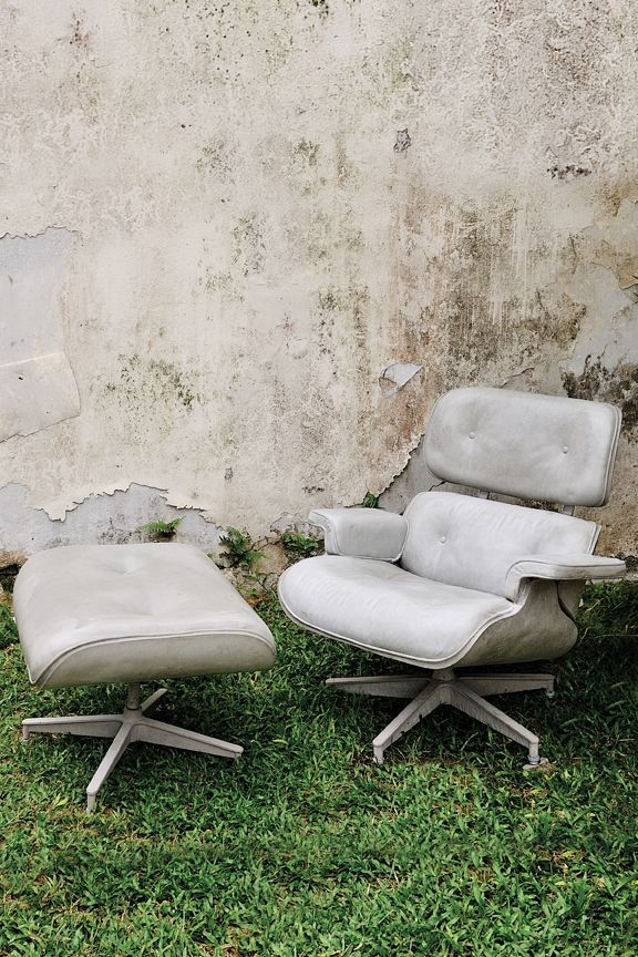 Concrete Eames Lounge Chair and Ottoman by Fred Lives Here