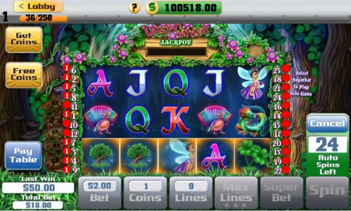 A Fan Favorite! Lost Garden is just one of more than 14 slots inside of City Slots.
