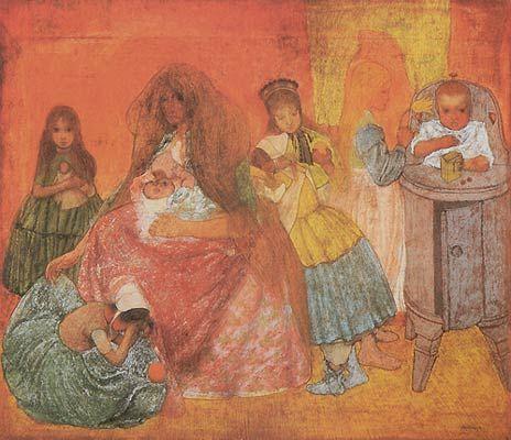 Jan Toorop (1858-1928) - Motherhood, 1891