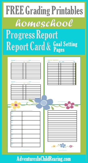 It's just a graphic of Intrepid Homeschool Progress Report Printable