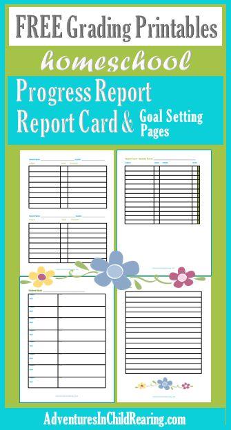 It's just a picture of Comprehensive Homeschool Progress Report Printable