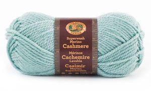 Superwash Merino Cashmere Yarn from Lion Brand Yarn. Maybe I should try using this yarn.