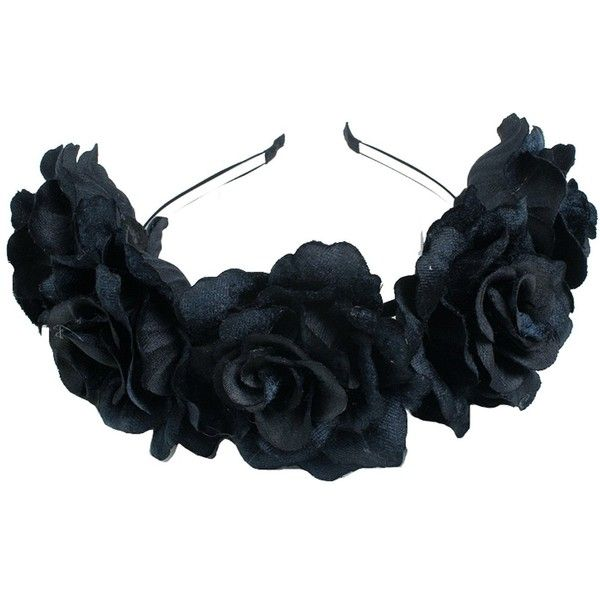 Floral Fall Velvet Rose Festival Crown Hippie Flower Hair band F-81... ($8.99) ❤ liked on Polyvore featuring accessories, hair accessories, head wrap headbands, floral hair accessories, floral headband, hippie headbands and rose flower crowns