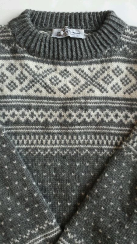 Hand knit sweater from Norway