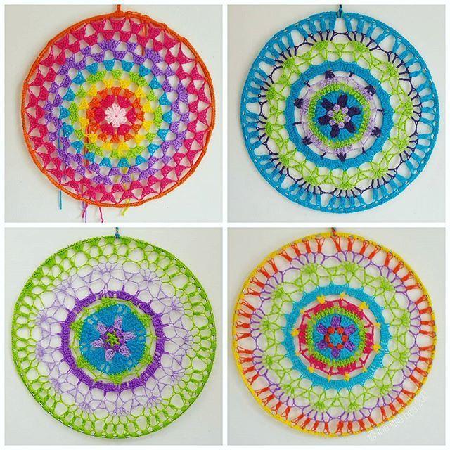 Crochet Hoop Mandalas