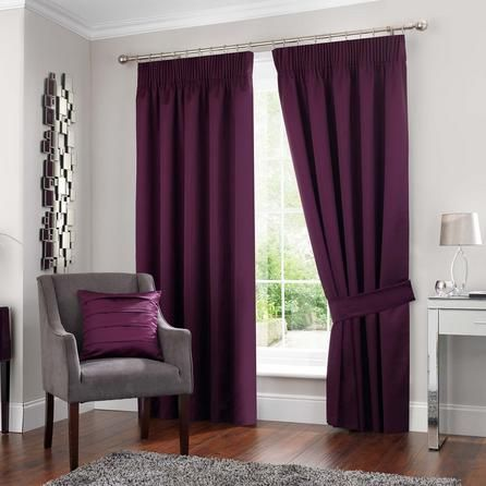 5A Fifth Avenue Luxurious Plum Purple Venice Blackout Pencil Pleat Curtains