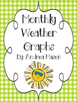 Monthly Weather Graphs Freebie