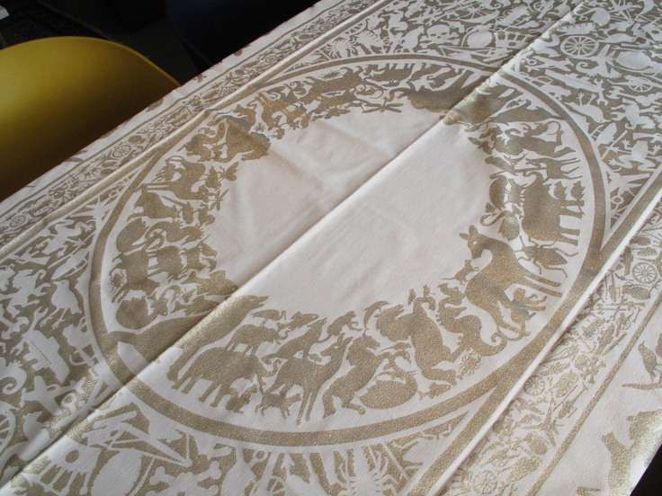 'Pantheon' tablecloth detail