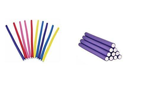 Pure Acoustics 10 Packs Effective Spiral Magic Foam Soft Bend Hair Curlers