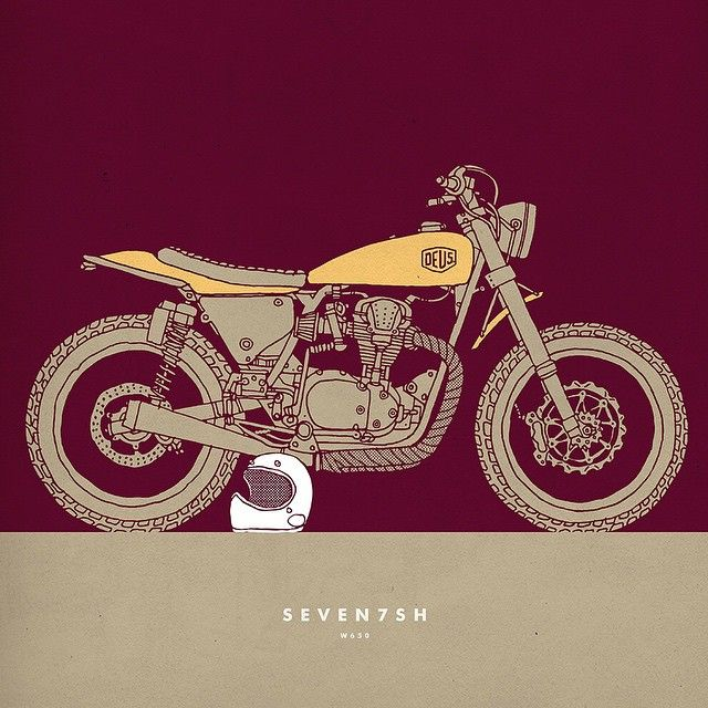 Instagram media deuscustoms - The Seven7sh by @carbyt #deusart