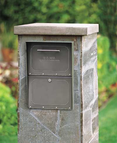 Large Oasis Locking Column Mount Mailbox Wall Mount