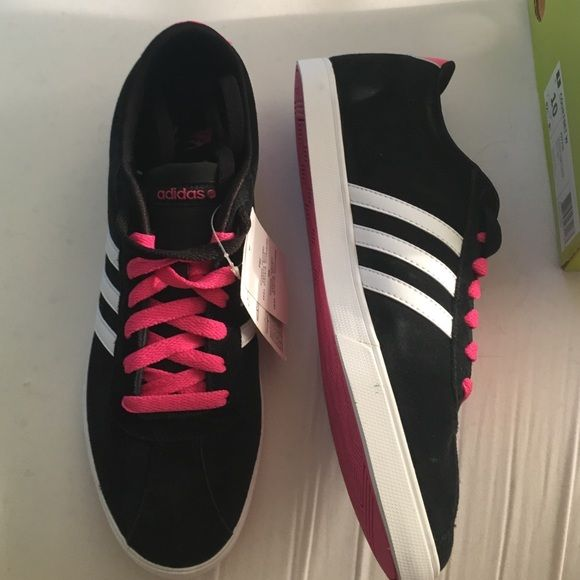 BRAND NEW Adidas Neo Shoes Brand new with box. Adidas Neo Courtset W shoes. Comfy and cute! Adidas Shoes
