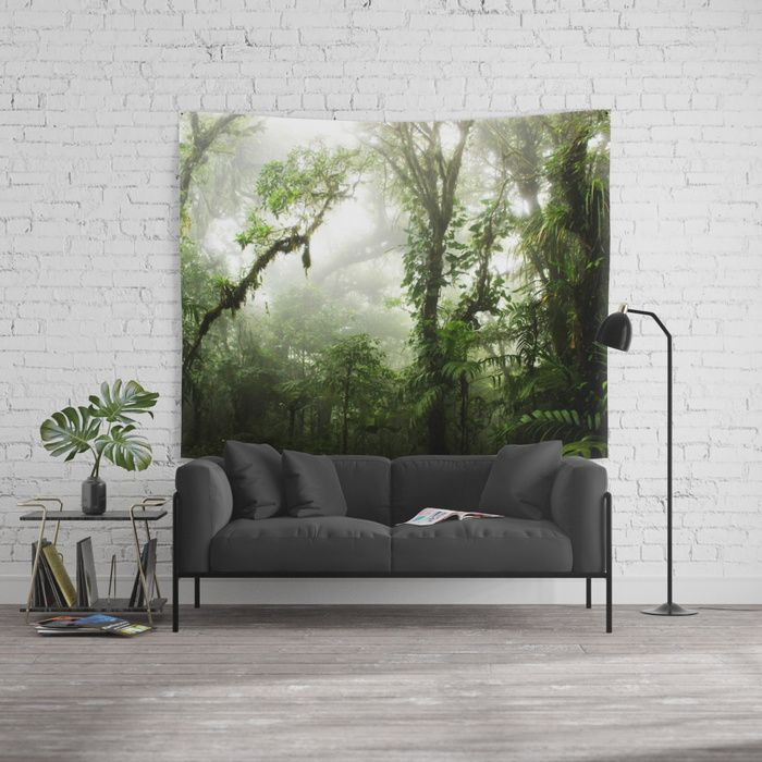 Cloud Forest Wall Tapestry by Nicklas Gustafsson | Society6 #rainforest #jungle #nature #forest #costarica # green #tapestry #homedecor #tapestry #walltapestry #wallart #design #interiordesign