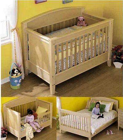 Homemade Wooden 3 In 1 Convertible Baby Crib Nursery Ideas Baby