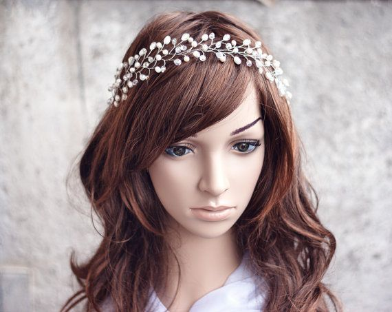 Bridal+tiara+wedding+tiara+wedding+crown+Silver+tiara+от+ArsiArt,+$63.00