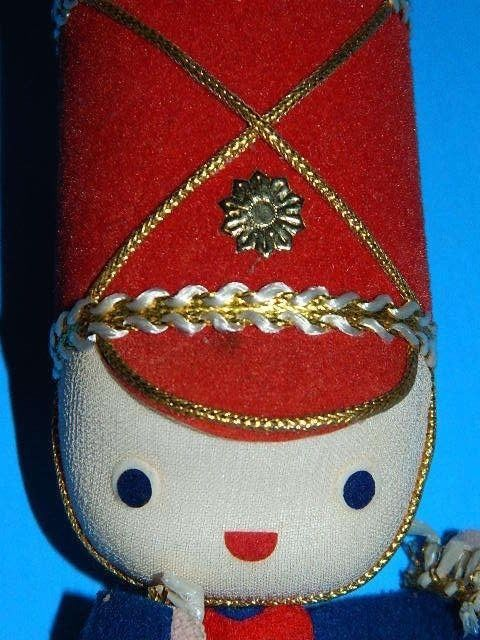 Marching Band Christmas Ornaments Part - 44: Vintage Christmas Decoration Ornament SOLDIER MARCHING BAND 1960s