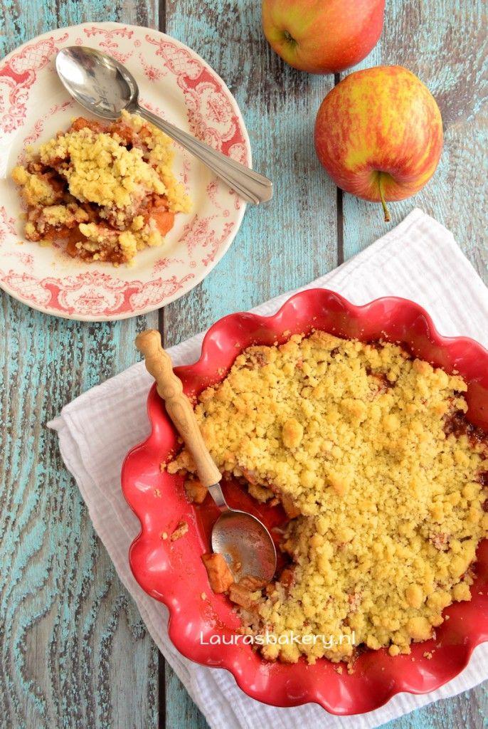 Appel-kaneel crumble - Laura's Bakery - apple cinnamon crumble
