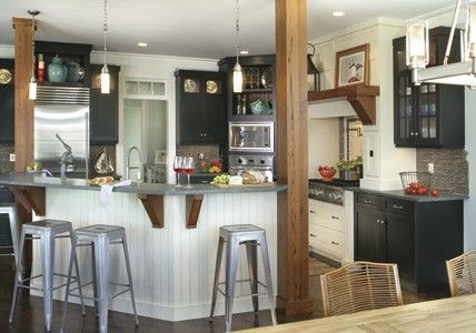 Interiors With Rustic Wood Columns Ravenwood Ranch House