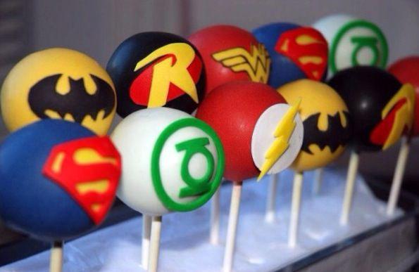Marvel Hero Cake Pops