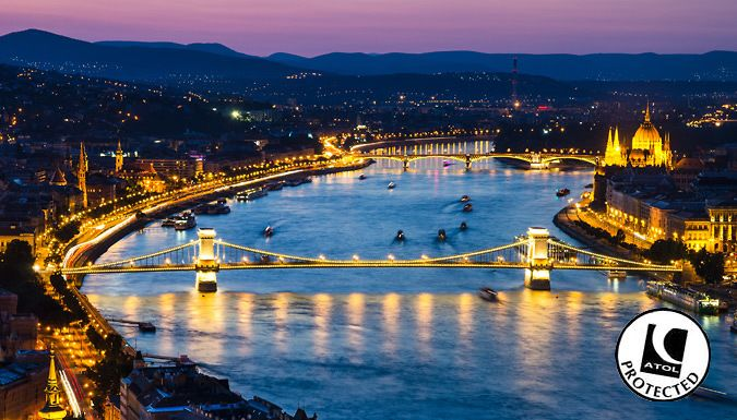 UK Holidays: Budapest, Hungary: 2-3 Night 4* Hotel Stay With Flights - Up to 59% Off for just: £79.00 Explore the beauty of Budapest with a 2-3 night stay in a luxury hotel      Relax in 4* accommodation at theHotel Mediterran or Golden Park Hotel      Take advantage of complimentary Wi-Fi, spa facilities and in-house restaurants      Soak in Budapest's thermal spas and take a dip in the...