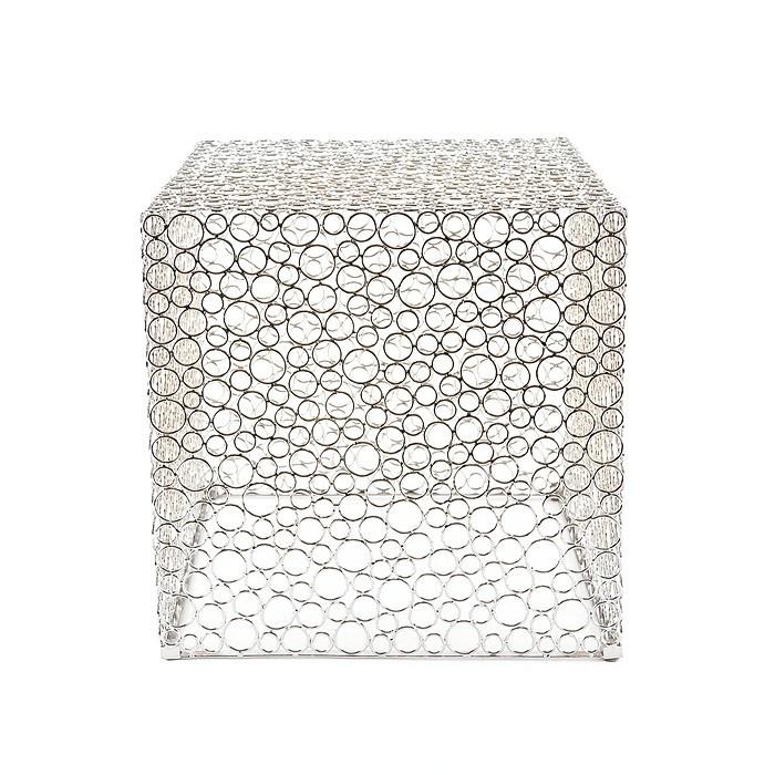 """Table basse argentée """"Ring"""""""